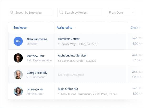 ClockInEasy App -  Biometric employee timesheets