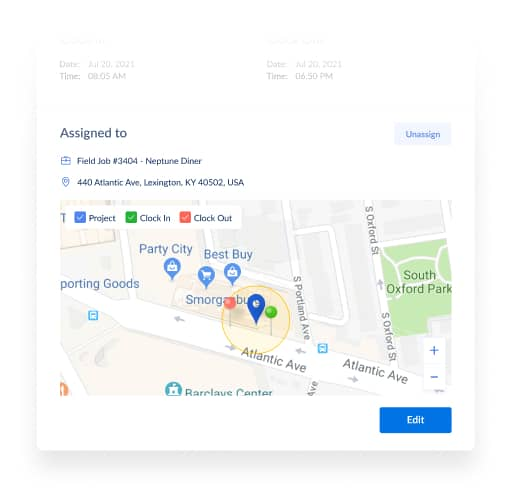Employee Time Tracking App Using GPAS