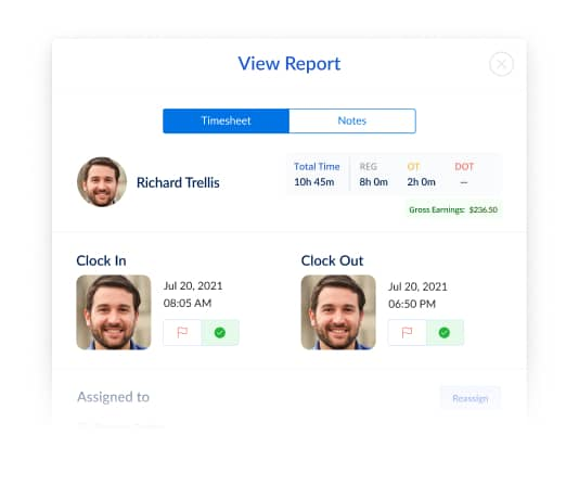 Employee time clock software - Face Recognition