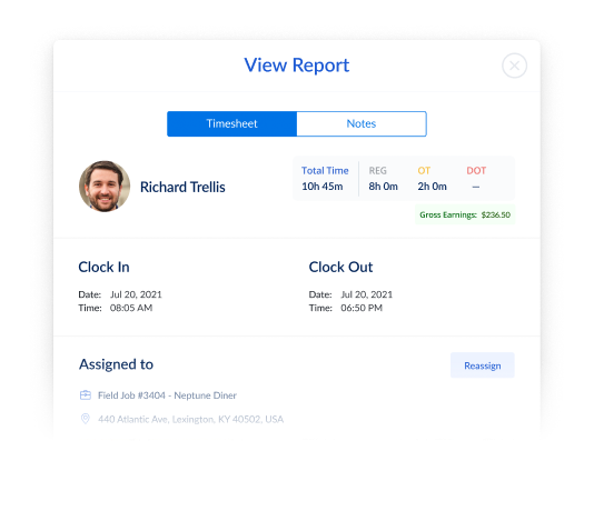 Biometric employee timesheets