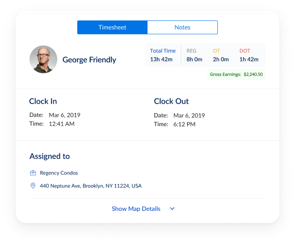 employee time tracking with location