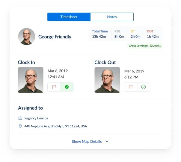 cloud based employee timesheet records