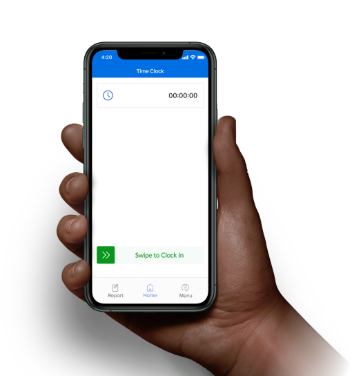 Mobile time tracking app